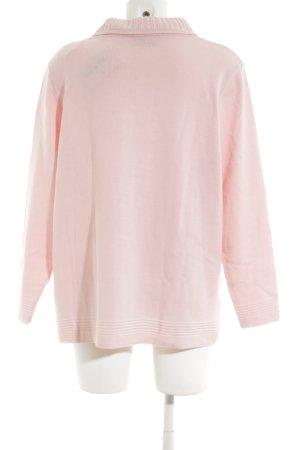 Canda Rollkragenpullover pink Zopfmuster Casual-Look
