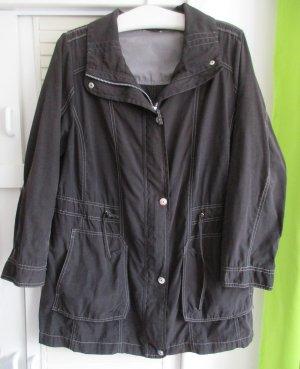 CANDA schwarze Sommerjacke Outdoor Damenjacke leichte Jacke XL 48/50 teils BW