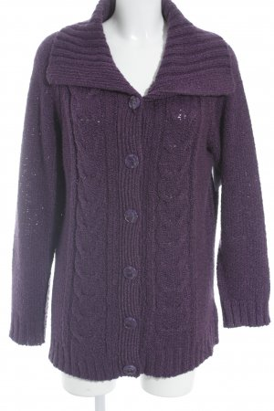 Canda Strickjacke dunkelviolett Casual-Look
