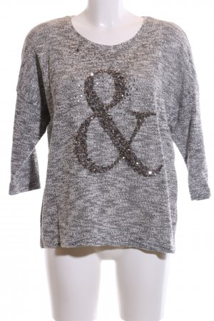 Canda Knitted Sweater light grey-black flecked casual look