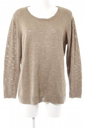 Canda Strickpullover hellbraun-goldfarben Casual-Look