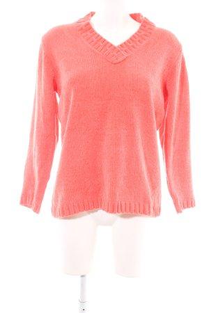 Canda V-Ausschnitt-Pullover rot Casual-Look
