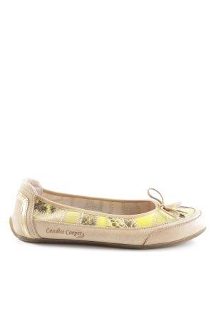 Candice Cooper Ballerina a punta giallo pallido-bianco sporco motivo animale