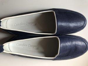 Candice Cooper Ballerines à bout ouvert bleu foncé-blanc