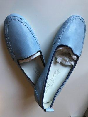 Candice Cooper Ballerinas Slipper Leder Blau Gr. 38 Neu