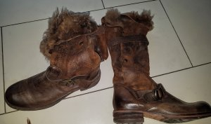 Candice Cooper Boots Stiefel d g. Neu Stiefeletten Lammfell Eur 349