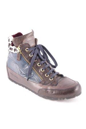 Candice Cooper High Top Sneaker braun-dunkelblau extravaganter Stil