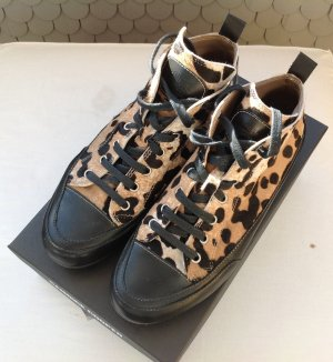 Candice Cooper high top Sneaker Gr. 37, leo Fell, schwarz