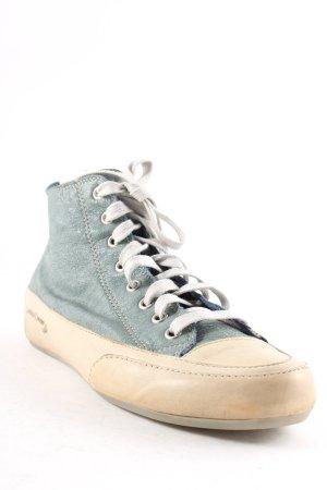 Candice Cooper High Top Sneaker graublau-beige Used-Optik