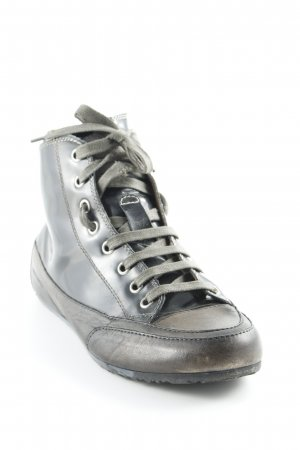 Candice Cooper High Top Sneaker graubraun-schwarz Casual-Look