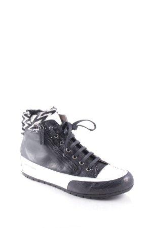 Candice cooper High Top Sneaker schwarz-weiß Animalmuster Urban-Look