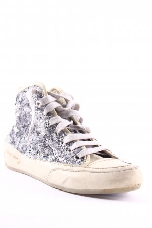 Candice Cooper High Top Sneaker silberfarben-creme Street-Fashion-Look