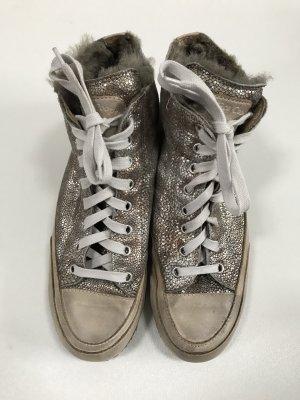 Candice Cooper Hightop Sneaker Schnürschuhe Lammfell gefüttert Gr. 39 - neuwertig!