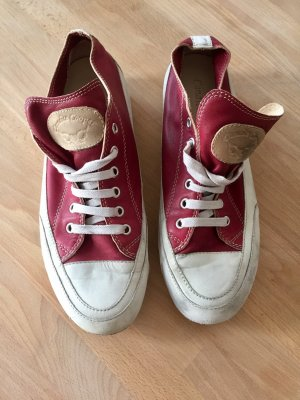Candice Cooper Lace-Up Sneaker red leather