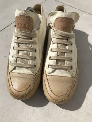Candice Cooper Lace-Up Sneaker natural white-olive green leather