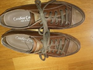 Candice Cooper Lace-Up Sneaker light brown leather