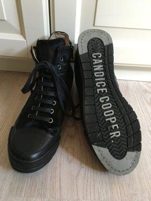 Candice Cooper Sneaker schwarz mit Fell - Größe 39