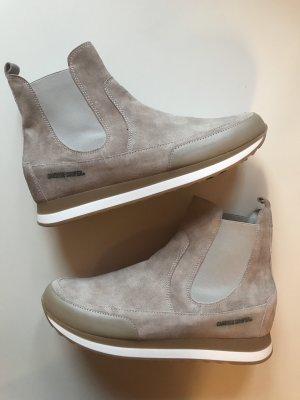 Candice Cooper Sneakers Chelsea Beige Braun Gr 38 Wildleder Neu