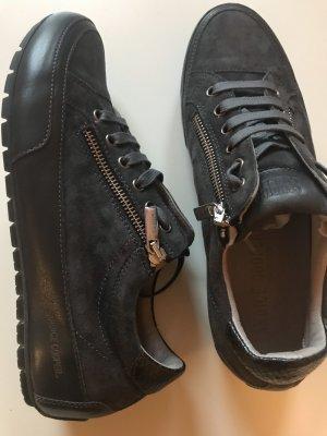 Candice Cooper Sneakers Grau Gr 38 Leder Velourleder