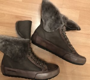 Candice Cooper Sneakers Lammfell Grau/ Taupe/Braun Gr. 38 Neu NP 250€