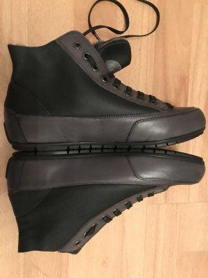 Candice Cooper Sneakers Lammfell Schwarz/ Anthrazit Gr. 38 Neu NP 250€