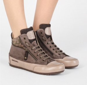 Candice Cooper Sneakers Leder Khaki Camouflage Gr. 38 Neu NP 239€