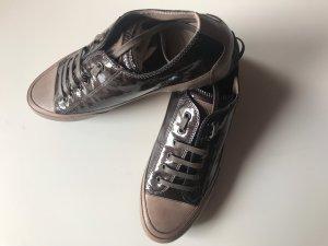 Candice Cooper Sneakers Rock Lackleder Braun Beige Gr. 41 Neu