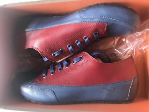 Candice Cooper Lace-Up Sneaker dark red-dark blue leather