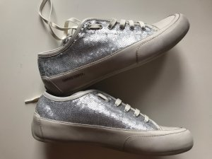 Candice Cooper Sneakers Silber Weiß Pailletten Gr. 41 Neu NP 200€