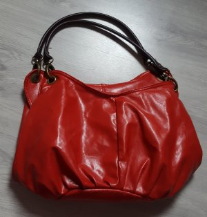 Candies Damen Lederimitat Handtasche Shopper Tasche rot