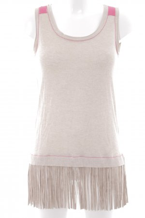 Cannery Row Vintage Top lungo crema-rosa stile country