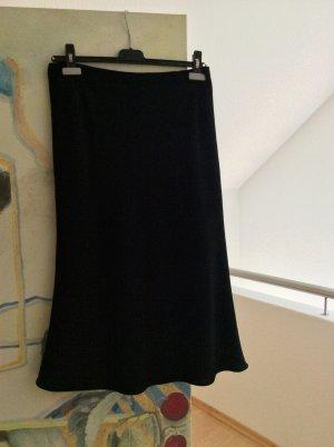 Flared Skirt black wool