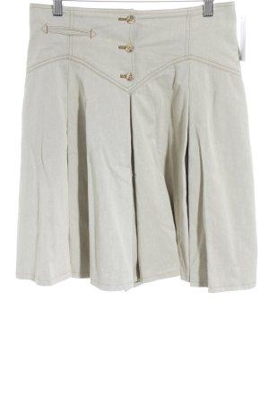 Canvas Jupe mi-longue beige clair style extravagant