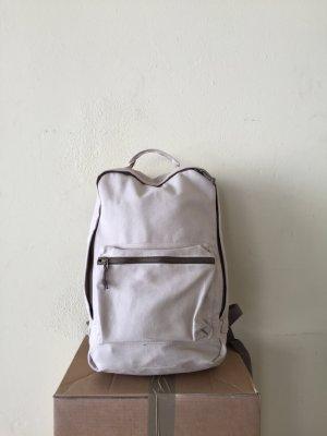 Zaino laptop marrone chiaro-beige chiaro Cotone