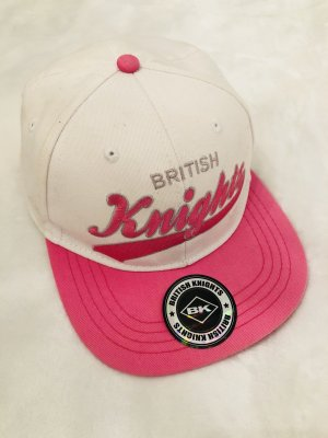 British Knights Baseball Cap white-pink