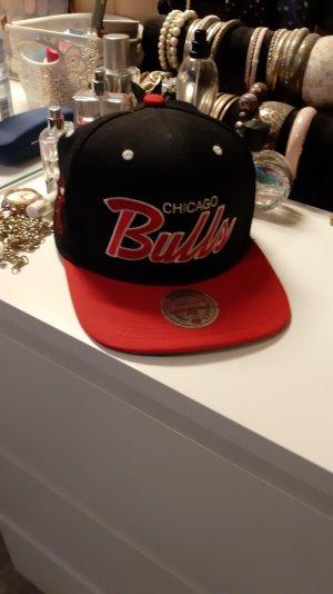 Mitchell & Ness Baseball Cap black-red