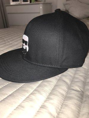 Karl Lagerfeld Baseballpet zwart-wit