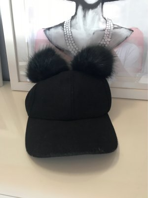 Miss Selfridge Fur Hat black