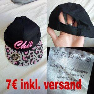 Cap black-pink
