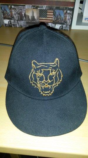 Cap mit Löwenmotiv schwarz