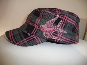 """Cap,Mütze in pink von""""Miami Ink"""" mit aufgenähter old-school Schwalbe"""
