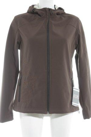 CAP Chaqueta softshell marrón claro-crema look casual