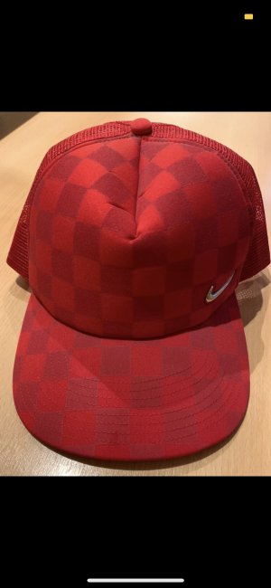 Nike Flat Cap red-silver-colored