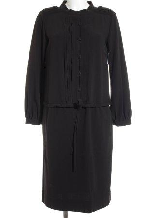 Capasoa Blusenkleid schwarz klassischer Stil