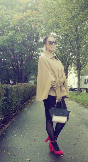 Cape Apart S 36 38 (3) beige wolle poncho Kashmir cashmere blogger warm mantel