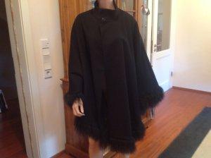 Cape noir laine