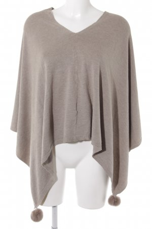 Cape beige casual uitstraling