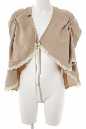 Cape beige-blanc cassé style extravagant