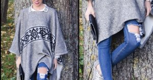 Zara Manteau mi-saison noir-gris coton