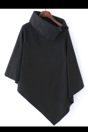 Cape in schwarz aus Filz von Shanan (Online plattform)
